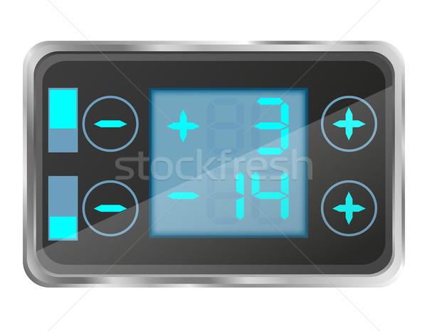 electronic temperature control of the refrigerator vector illust Stock photo © konturvid