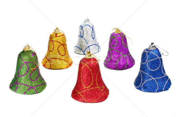 colors handbell decoration for a new-year tree Stock photo © konturvid