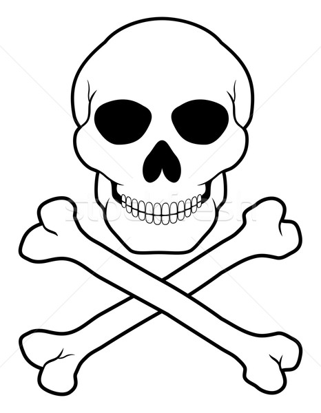 pirate skull and crossbones vector illustration Stock photo © konturvid