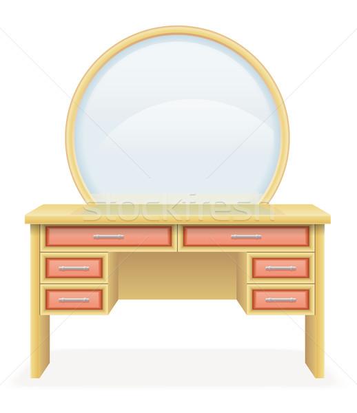 Vaidade tabela moderno mobiliário vetor ilustração Foto stock © konturvid