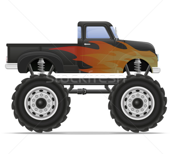 Stock fotó: Szörny · teherautó · autó · izolált · fehér · ipar