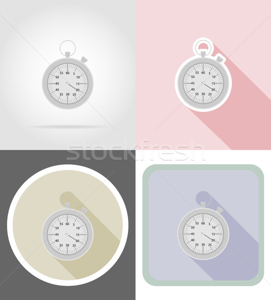Cronógrafo iconos aislado velocidad ver máquina Foto stock © konturvid