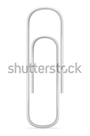 Stock photo: stationary paper clip stock vector illustration