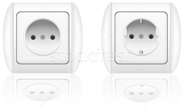 electrical socket vector illustration Stock photo © konturvid