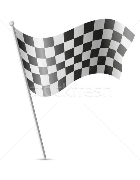 checkered flag for car racing vector illustration Stock photo © konturvid