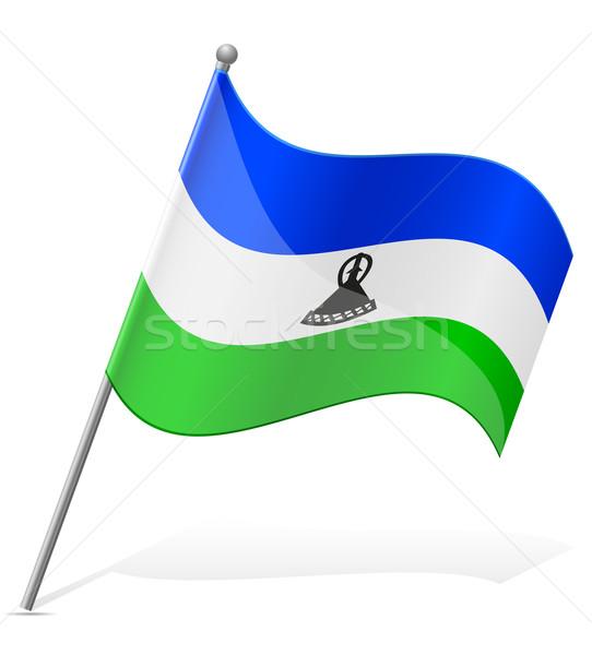 Bandeira Lesoto isolado branco globo mundo Foto stock © konturvid