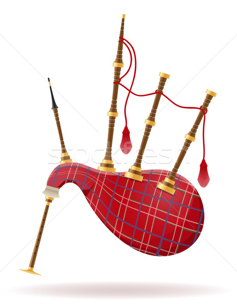 bagpipes wind musical instruments stock vector illustration Stock photo © konturvid