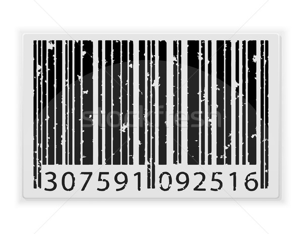 abstract barcode vector illustration Stock photo © konturvid