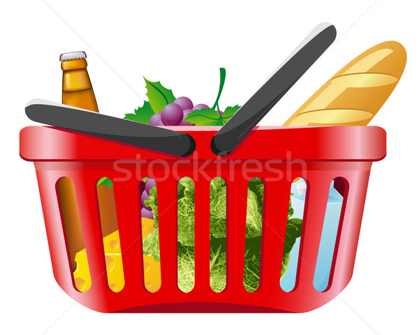 shopping basket with foods Stock photo © konturvid
