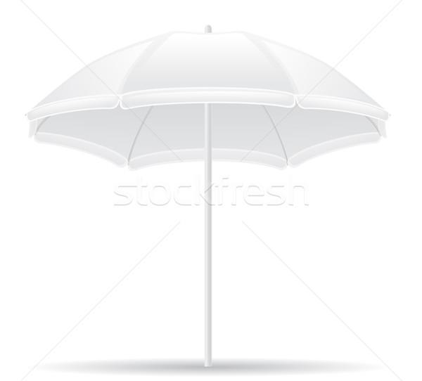 Ombrellone isolato bianco sole design estate Foto d'archivio © konturvid