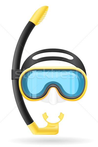 mask and tube for diving vector illustration Stock photo © konturvid