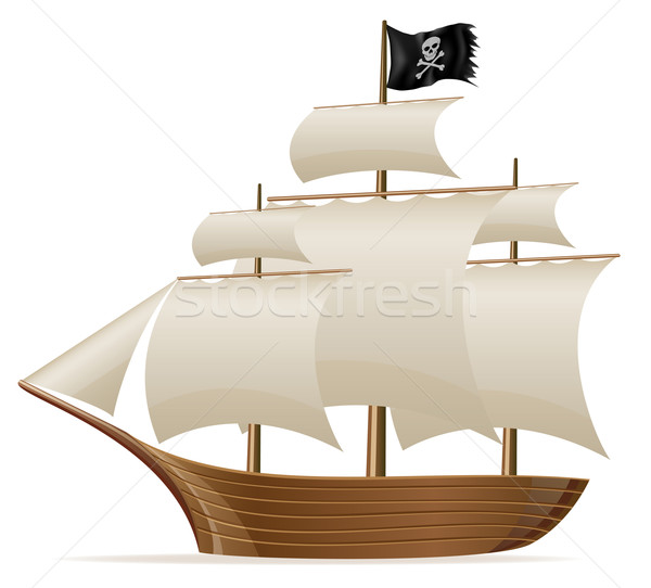 pirate ship vector illustration Stock photo © konturvid