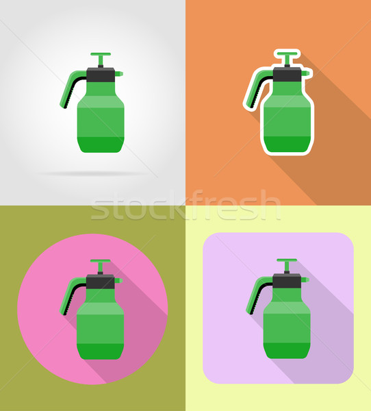 gardening tool sprayer flat icons vector illustration Stock photo © konturvid