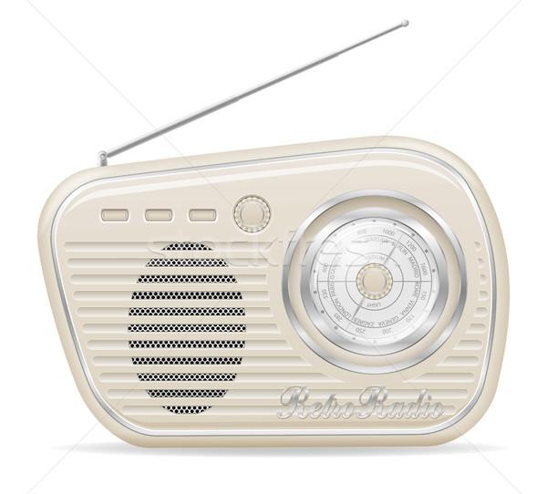 radio old retro vintage icon stock vector illustration Stock photo © konturvid