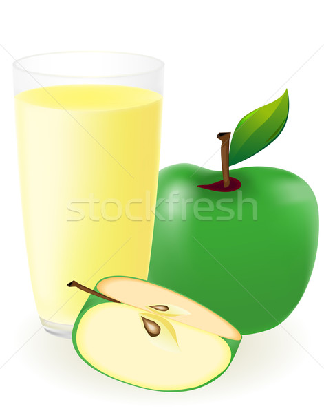 Groene appelsap geïsoleerd witte water appel Stockfoto © konturvid
