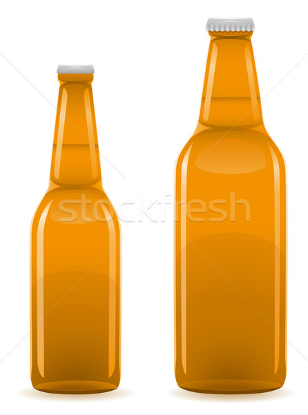 beer bottle vector illustration Stock photo © konturvid