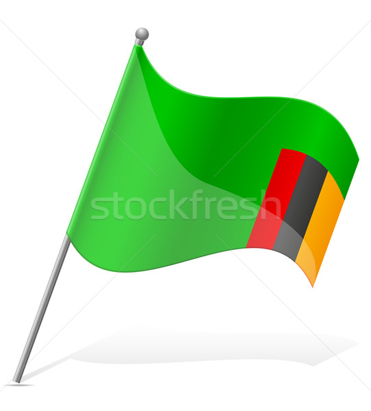 flag of Zambia vector illustration Stock photo © konturvid