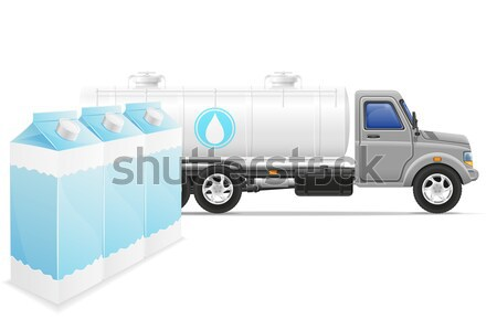 cargo truck delivery and transportation of purified drinking wat Stock photo © konturvid