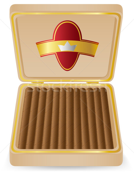 cigars in a box vector illustration Stock photo © konturvid