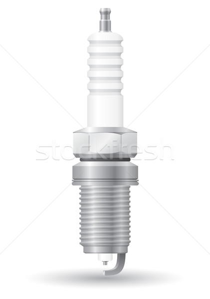 Samochodu iskra odizolowany biały technologii energii Zdjęcia stock © konturvid