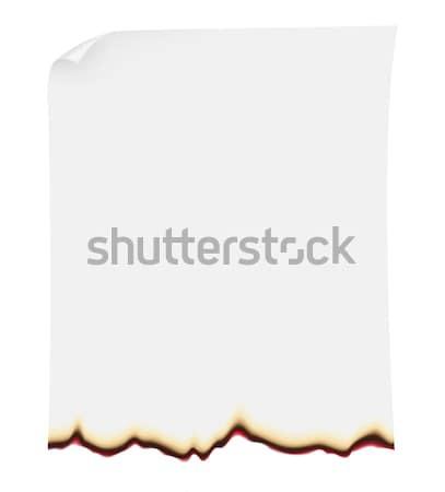 burnt paper vector illustration Stock photo © konturvid