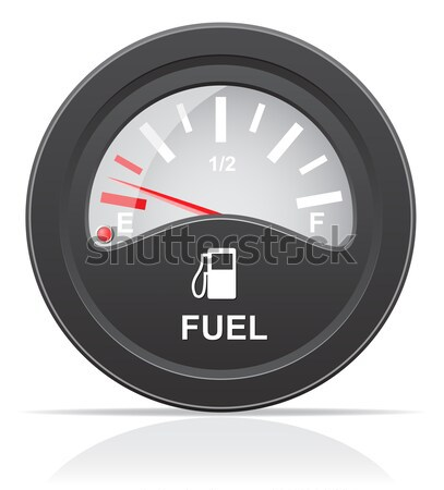 fuel level indicator vector illustration Stock photo © konturvid