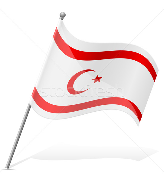 Bayrak Türk Cumhuriyet Kuzey Kıbrıs Yalıtılmış Vektör