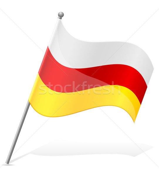 flag of South Ossetia vector illustration Stock photo © konturvid