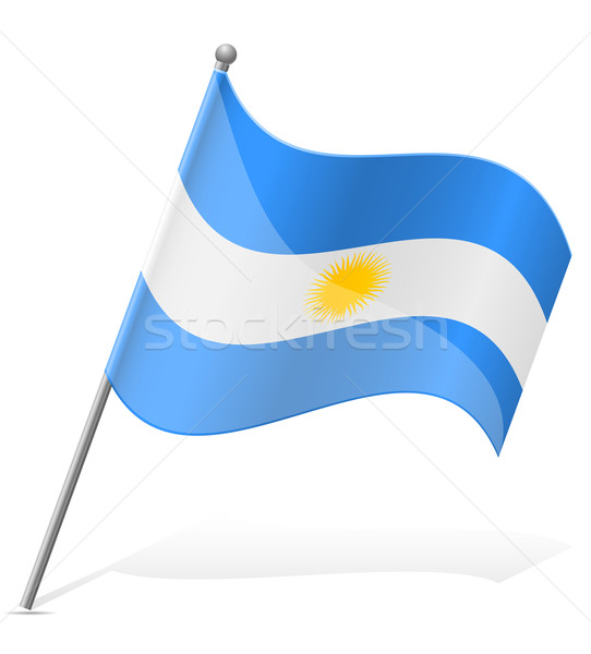 Bandeira Argentina isolado branco globo mundo Foto stock © konturvid