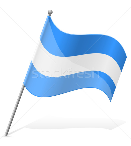 flag of Nicaragua vector illustration Stock photo © konturvid