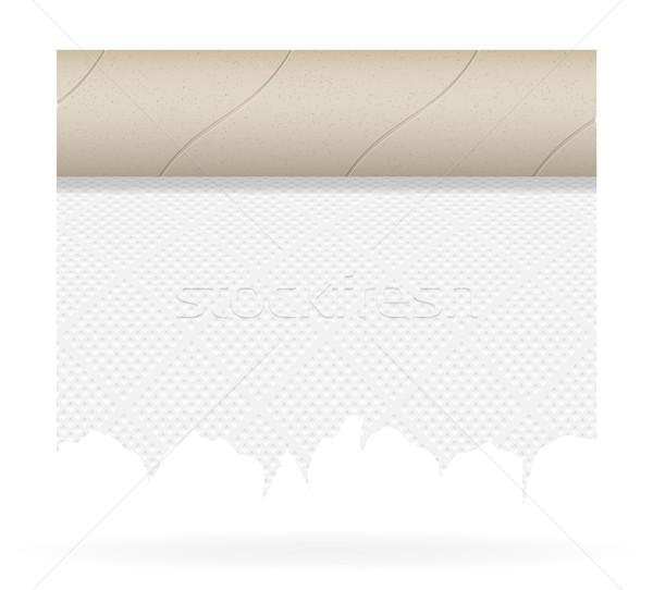 Pezzo carta igienica isolato bianco sfondo pulizia Foto d'archivio © konturvid