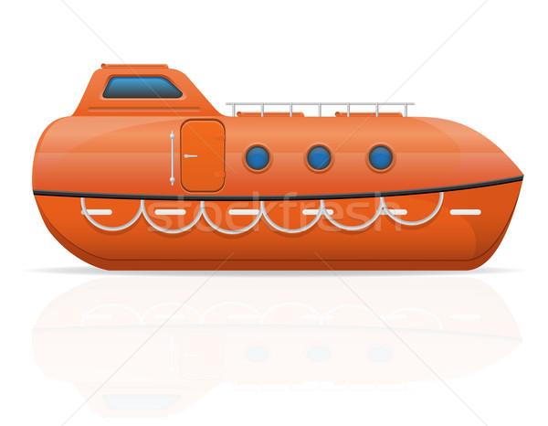 nautical lifeboat vector illustration Stock photo © konturvid