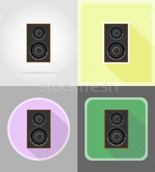 Acoustique icônes isolé ordinateur design fond Photo stock © konturvid