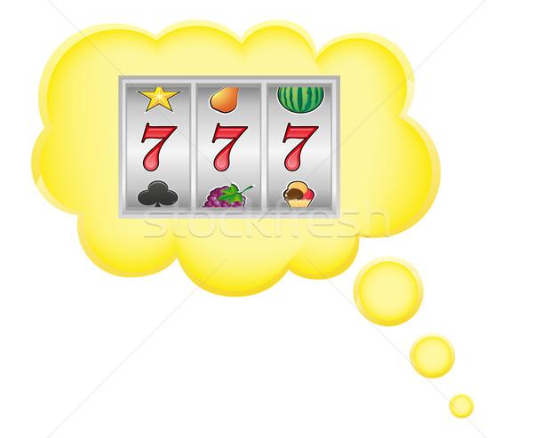 Sogno casino jackpot nube isolato bianco Foto d'archivio © konturvid