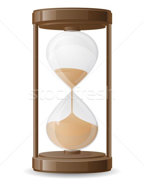 старые ретро песочных часов изолированный белый часы Сток-фото © konturvid