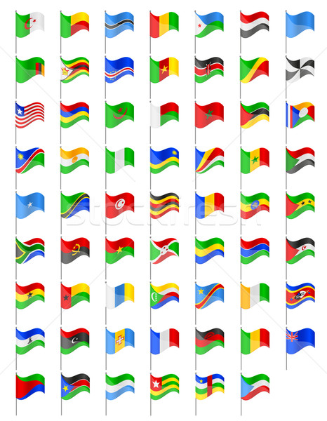 flags of Africa countries vector illustration Stock photo © konturvid
