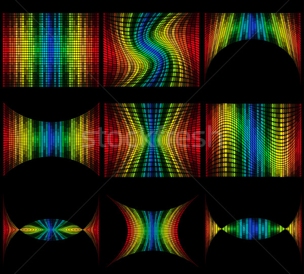 Set abstract multicolore grafica equalizzatore isolato Foto d'archivio © konturvid