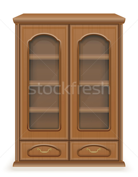 cupboard furniture made of wood vector illustration Stock photo © konturvid