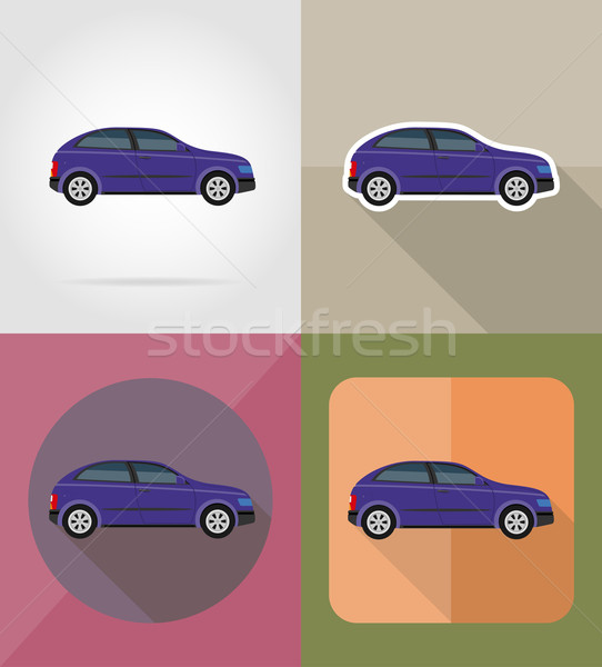 car transport flat icons vector illustration Stock photo © konturvid