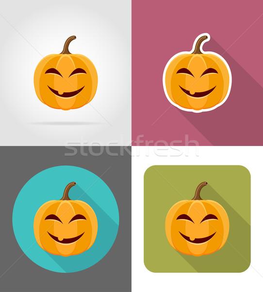 Foto d'archivio: Zucca · di · halloween · icone · isolato · alimentare · natura · frutta