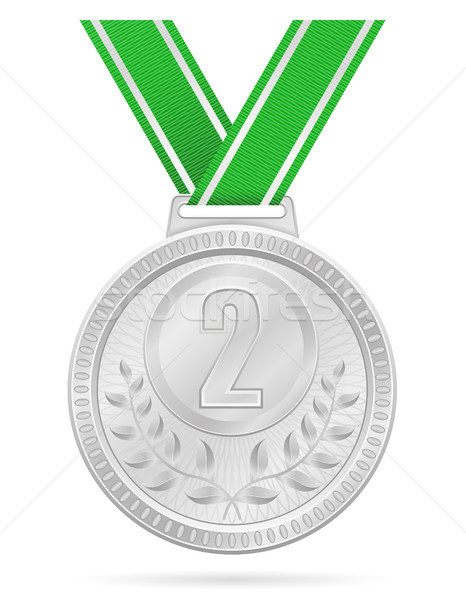 medal winner sport silver stock vector illustration Stock photo © konturvid