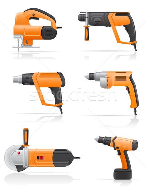 electric tools set icons vector illustration Stock photo © konturvid