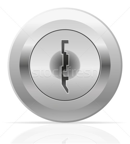 silver metal keyhole vector illustration Stock photo © konturvid
