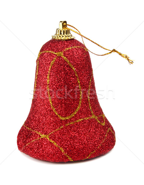 red handbell decoration for a new-year tree Stock photo © konturvid
