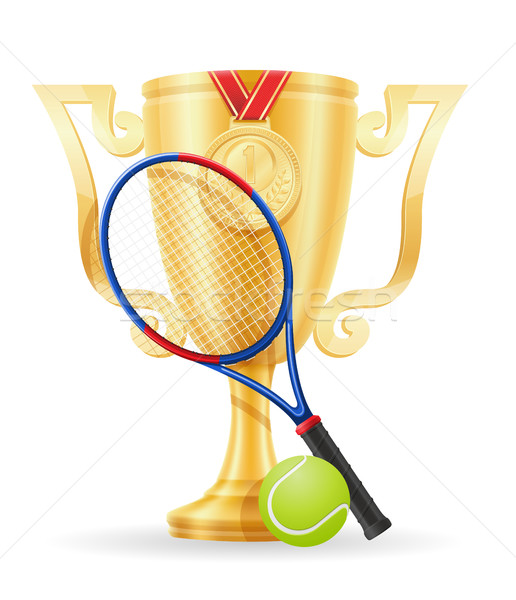 Stock photo: tennis cup winner gold stock vector illustration
