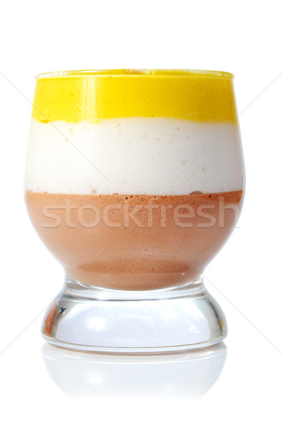 Сток-фото: желе · стекла · изолированный · белый · продовольствие