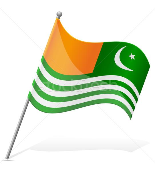 flag of Azad Kashmir vector illustration Stock photo © konturvid
