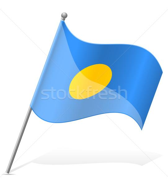 flag of Palauan vector illustration Stock photo © konturvid