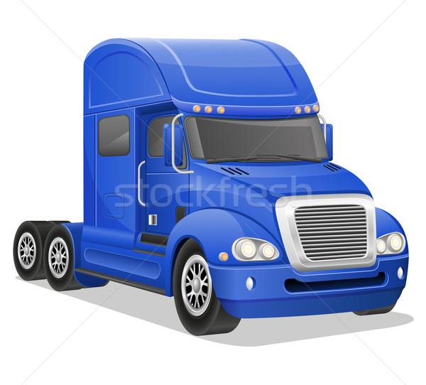 big blue truck vector illustration Stock photo © konturvid