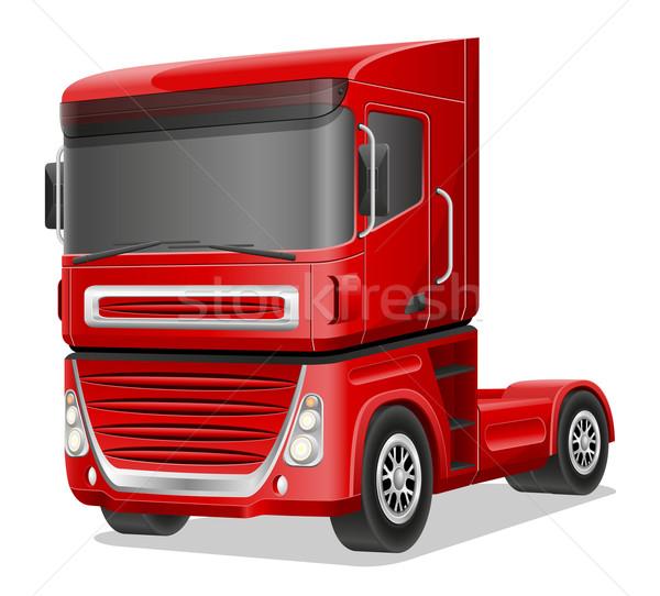big red truck vector illustration Stock photo © konturvid